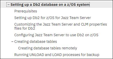 FAQs for Runnnng Rational Team Concert on DB2 for z/OS Database
