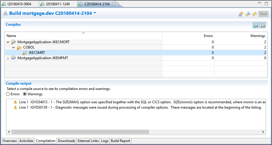 Adding Compiler Feedback Information to Team Concert z/OS Dependency Builds